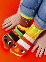 Burger & Fries | Kids & Adult Socks | Collectible Mismatched Sock