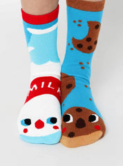 Milk & Cookies | Adult Socks | Mismatched Fun Socks