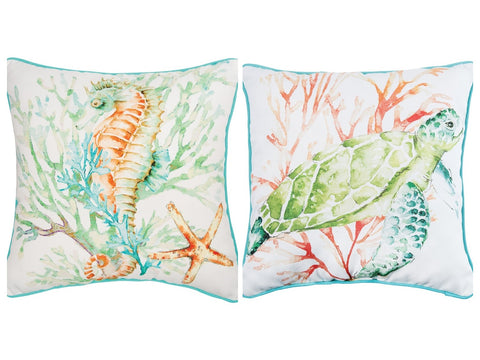 Colorful Watercolor Pillow