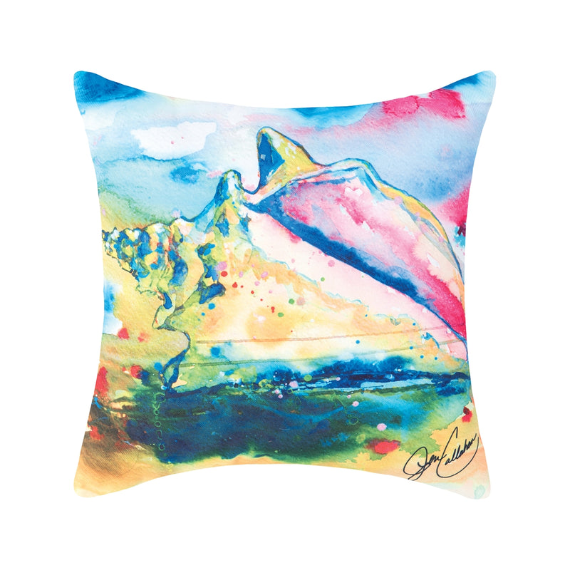Bright Watercolor Pillow