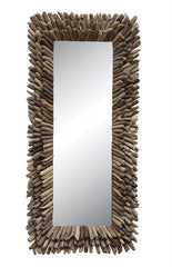 Full Length Driftwood Framed Mirror