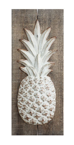 Embossed Metal Pineapple Wall Decor