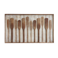 Wood Framed Wall Decor w/ Raised Paddles