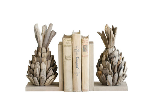 Driftwood Pineapple Bookends