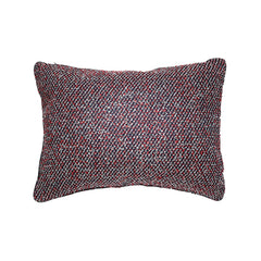 Wool Blend Pillow, Red & Blue