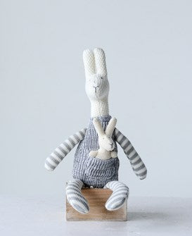 Cotton Knit Kangaroo with Baby - 18""