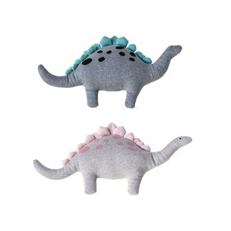 Cotton Knit Dinosaur - Pink & Blue