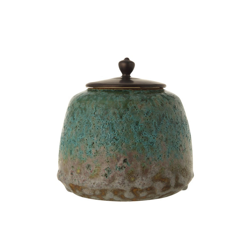 Decorative Stoneware Container