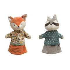 Plush Animal Hand Puppet - Fox & Racoon