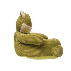 Corduroy Plush Frog Lounge Chair, Green