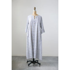 Cotton Double Ikat Dress - Blue
