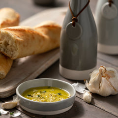 Garlic Grater & Olive Oil Dish