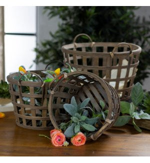 Round Tobacco Baskets