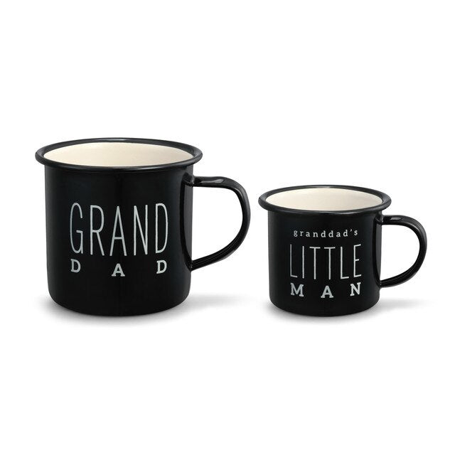 Granddad & Little Man Mug Set