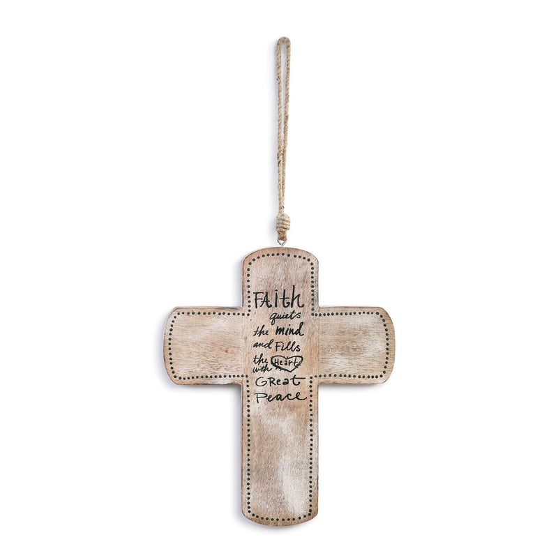 Great Peace Carved Wooden Cross