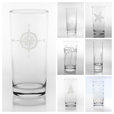 Etched Highball Glass