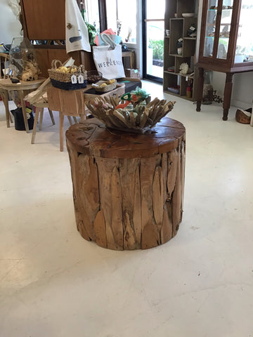 Barrel Teakwood Table