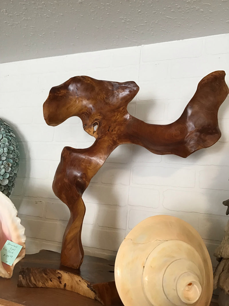 Seaweed Teak Sculpture