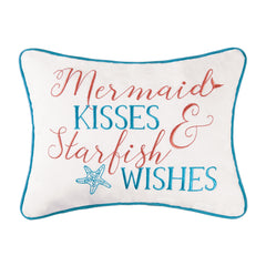 Mermaid Wishes & Starfish Kisses Pillow