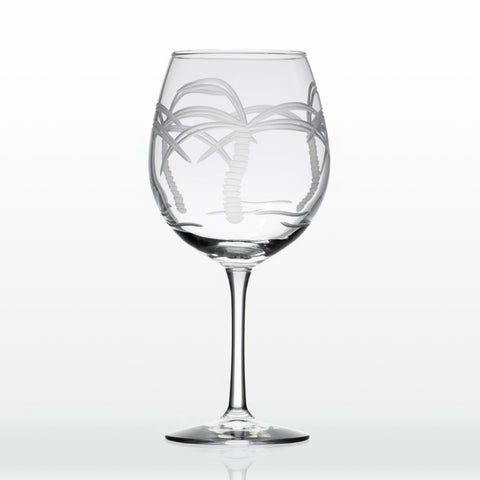 Etched Balloon Wine Glass