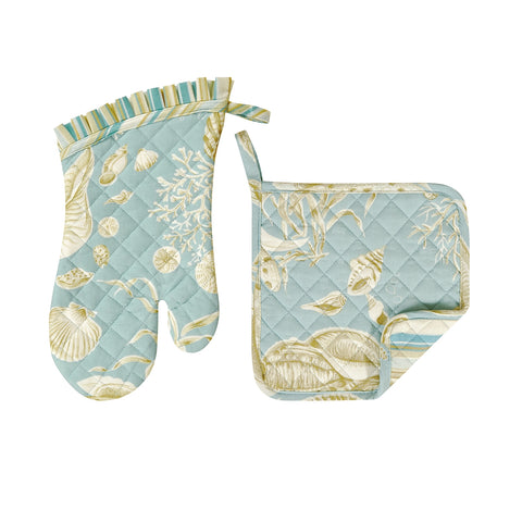 Pot Holder & Oven Mitt Set