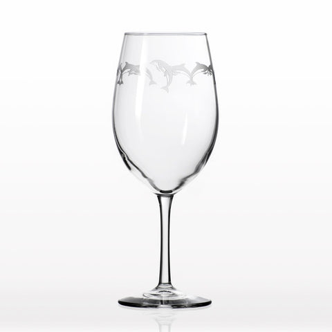 Etched All Purpose Wine Glass