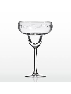 Etched Margarita Glass
