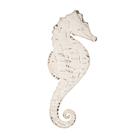 Hammered Iron Seahorse Wall Art