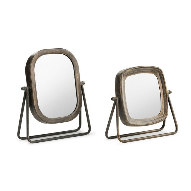 Metal Tabletop Mirror