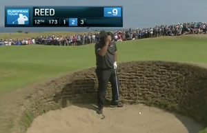 Watch Patrick Reed Struggle Mightily To Get Out Of A Pot Bunker