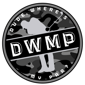 "Dude, Where's My Par (MILITARY) Sticker (3""x3"")"