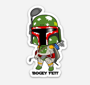 "Bogey Fett Vinyl Decal (3"")"