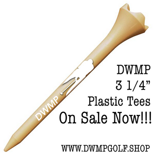 "24 DWMP Logo Golf Plastic Tees (3 1/4"") - NATURAL"