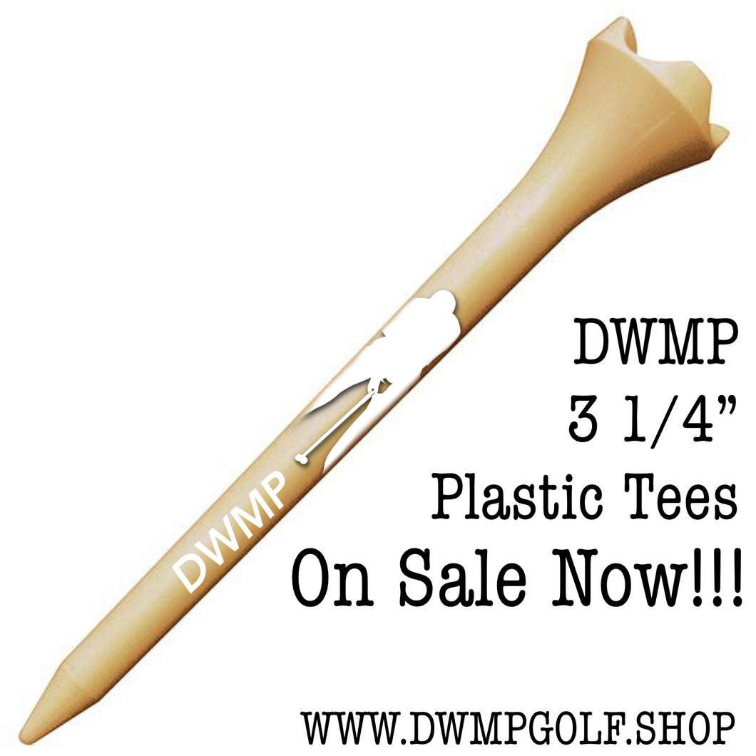 12 DWMP Logo Golf Tees (3 1/4
