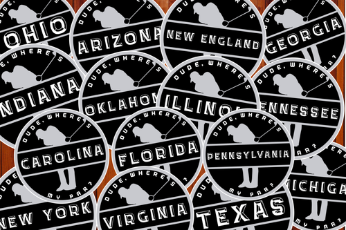 "State Chapter Stickers (3""x3"") Vinyl Decal"