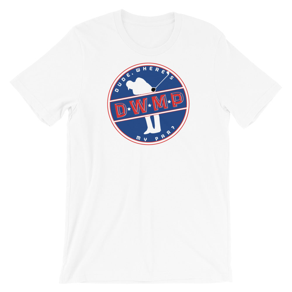DWMP Red, White, Blue Logo Tee