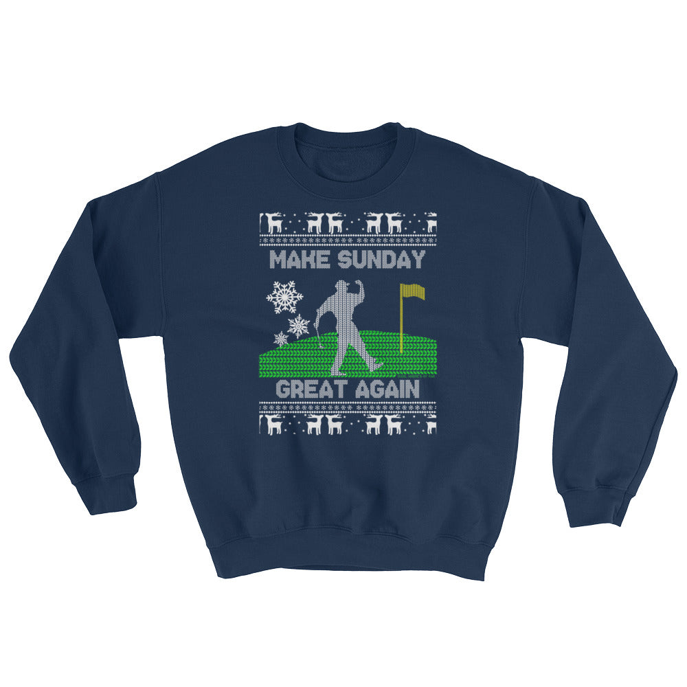 Make Sunday Great Ugly Christmas Sweatshirt