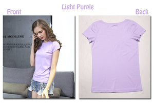 High Quality Women Cotton Elastic Tee