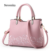 New Women High Quality Zipper Embroidery Handbag