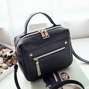 Casual Shopping Solid Pu Leather handbags