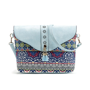 Ladies High Quality Vintage Print Crossbody HandBag
