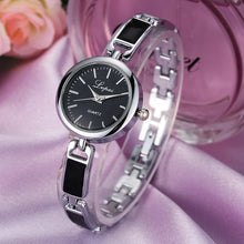 Fashion Ladies Women Unisex Stainless Steel Rhinestone Quartz Wrist Watch