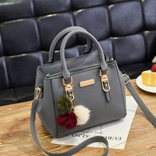Fashion brand women hairball ornaments totes solid sequined handbag