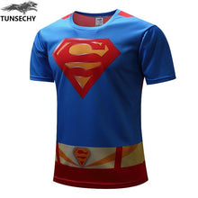 Superman Spiderman Fitness Brand T Shirt