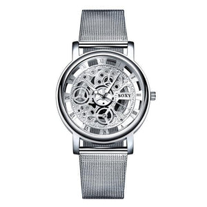 Hot Selling Brand SOXY Silver Quartz Wrist Watch