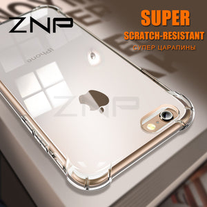 Slim Transparent Luxury Anti-knock Silicone Case For iphone 6 7 8 Plus X
