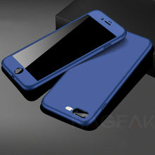 Hybrid Shockproof Case For iPhone with tempered glass