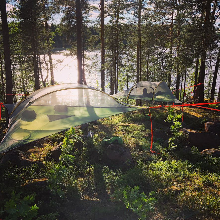 Overnight Paddling and Tentsile Adventure