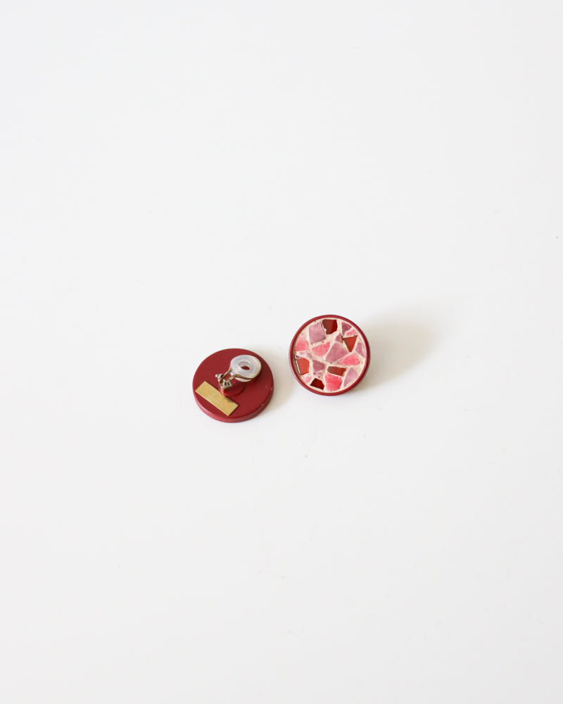 Rosie Assoulin Mosaic Clip-On Earrings