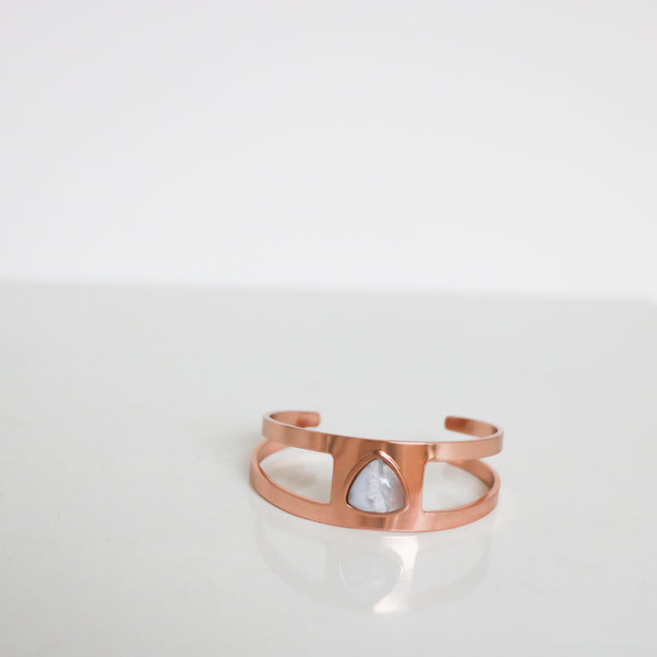 Rose Gold & Smoky Quartz Cutout Cuff
